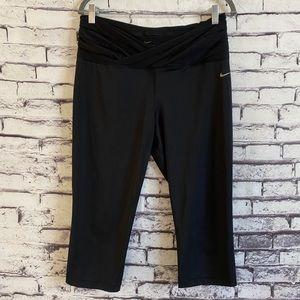 Nike Women's Gym OM Dri-Fit Capri in Black